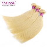 Волосы человеческих волос Remy цвета 613 белокурые перуанские