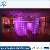 2016cheap LED que enciende la tienda inflable de la cabina, cabina inflable