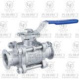 Subminiature 4분의 1 회전 전기 세 배 죔쇠 공 벨브 (PQ981F-1000PSI)