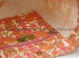 De douane Afgedrukte 10oz Zak van de Totalisator van het Canvas in Oranje Kleur