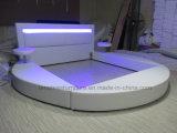 A508 LEDライトが付いている新しいデザイン革ベッド