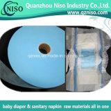Tissu non-tissé de Hydrohpilic ADL pour les matières premières de serviette hygiénique (LS-115)