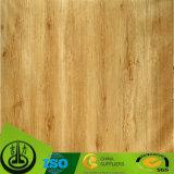 Papel decorativo da grão de madeira para o assoalho com teste padrão impressionante