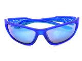 Óculos de proteção de proteção polarizados do frame plástico dos óculos de sol desenhador em linha