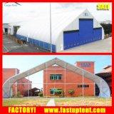 tienda Shaped del Tradeshow del pabellón de la curva del PVC de los 30m con capacidad grande