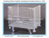 Lager Storage Steel Wire Mesh Roll Container mit Casters