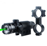 Caza táctico ajustable Sight Laser Scope DOT láser verde para Pistola W / para miras Mounts