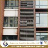 Resistencia a la corrosión del hierro de la ventana de la lumbrera