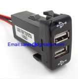 UniversalDouble Dual 2-Port USB in Car Socket Adapter 12V-24V für Toyota Vigo