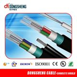 Auto aéreo - cabo ótico de apoio da fibra