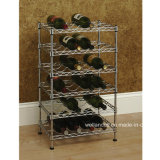 MiniAdjustable Chrome Flat Wine Rack für Home (WR603590A3R)