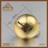 Cascabeleo plateado Niza oro Belces del metal de la calidad de la manera 16m m para la decoración