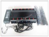 jammer de controle remoto 315 do carro 30W 433 868 megahertz, jammer Desktop sensível do construtor do sinal de WiFi Bluetooth GPS Lojack