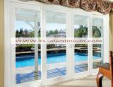 Porte coulissante en aluminium décorative intérieure de bonne qualité