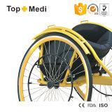 Sport leggero di alluminio di Topmedi che corre la sedia a rotelle di genere di velocità
