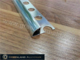 L'alluminio profila il testo fisso d'argento luminoso di angolo dell'angolo rotondo