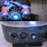 Luz do estágio da esfera de cristal do diodo emissor de luz do disco 6X3w DMX DJ