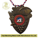 Античный медальон с Cord, Hot Sale Award Souvenir Medal Gold
