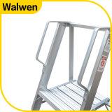 Самый лучший продавая трап платформы 3 шагов складывая алюминиевый с поручнем