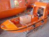 Bote salvavidas y pescante del SOLAS F.R.P para el salvamento marina