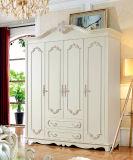 Jogo de quarto de madeira europeu da mobília antiga (HC905)