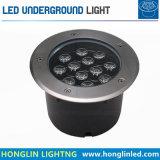 옥외 지하 점화 둥근 LED에 의하여 중단되는 지상 빛 12W IP65