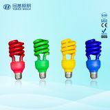 Tubes fluorescents de demi de couleur spiralée d'ampoules de CFL/ESL petits