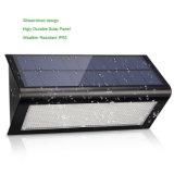 48 LED 800lmの屋外の太陽エネルギーのマイクロウェーブレーダーの動きセンサーライト無線機密保護の庭の壁ライト