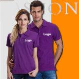 T-shirt promotionnel de coton en gros bon marché fait sur commande de qualité