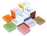 Jabón hecho a mano del rectángulo de regalo de Kraft rectángulos impresos a la aduana cosmética del rectángulo de papel de embalaje de Macaron Brown de la botella