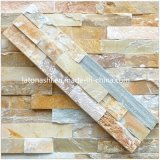 Черное Cultured Stone Veneer Quartzite Wall Panel для Building Decorativer