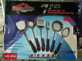 Кухня нержавеющей стали варя комплекты инструментов 7PCS с держателем Ckt7-B01