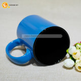 blaue 480ml Kaffeetasse mit schwarzer Farben-Einlage