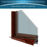Portello di vetro di alluminio con i vetri triplici singoli doppi di vetro di vetro