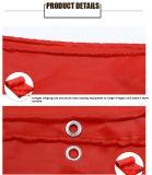 Encerado/encerado revestidos vermelhos da alta qualidade da tela do poliéster do PVC