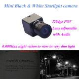 120deg Visie van de Nacht van de Camera's van de Veiligheid van gezichtsveld de Audio Video Zwarte Witte Mini0.0001lux 600tvl met Huis