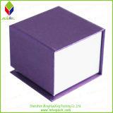Caixa de jóia de papel de empacotamento do presente do fechamento magnético delicado