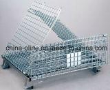 スタック可能鋼線の網の容器を折る倉庫の記憶