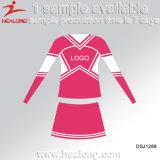 Healong Sublimated os uniformes do Cheerleading da juventude da impressão que Cheerleading a camisola