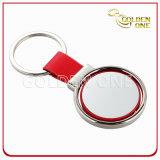 Sostenedor niquelado del clave del metal del regalo del espacio en blanco promocional del corazón