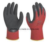 サンディの乳液のコーティング(LRS3012)の通気性の作業手袋