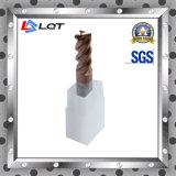A melhor qualidade HRC 55 moinho de extremidade do carboneto de tungstênio de quatro flautas