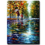 Factory Direct Wholesale 100% Handmade Palette Knife Modern Oil Painting on Canvas