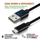 USB 2.0 del plástico un varón al varón del USB 3.1 C del cable de datos en color negro