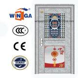 Porte en verre d'entrée de type de la Chine de garantie extérieure d'acier inoxydable (W-GH-23)