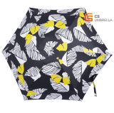 Guarda-chuva de dobramento da borboleta 5 do ouro mini (YS-5F5007B)