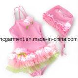 女の子の印刷された美しいビキニ、かわいい子供の水着