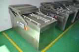 Double machine à emballer de vide de chambre avec le mastic de colmatage de scellage de vide de la barre quatre