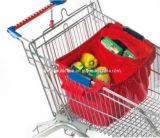 Тележка покупателя магазина мешка магазинной тележкаи супермаркета