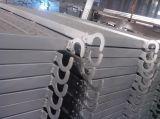 Tablón de acero galvanizado al por mayor de la tarjeta de acero de la caminata de la fábrica con el gancho de leva